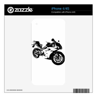 aggressive sport motorcycle iPhone 4 decal