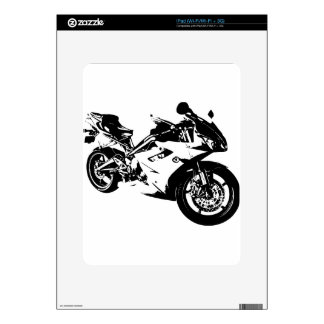 aggressive sport motorcycle skin for the iPad