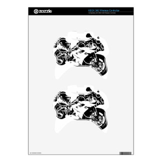 aggressive sport motorcycle xbox 360 controller decal