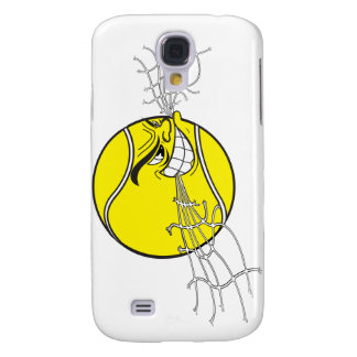 aggressive tennis ball biting net graphic samsung galaxy s4 cover