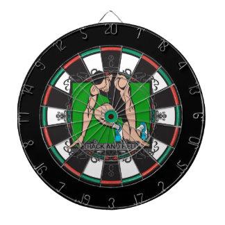 Aggressive Track and Field Dartboard With Darts