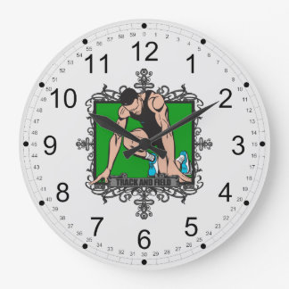 Aggressive Track and Field Large Clock