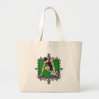 Aggressive Track and Field Large Tote Bag