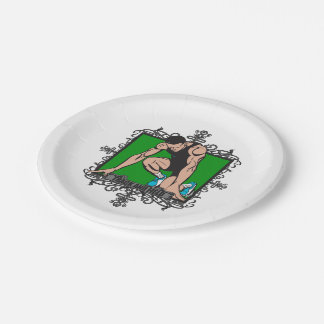 Aggressive Track and Field 7 Inch Paper Plate