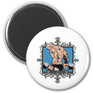 Aggressive Weight Lifting 2 Inch Round Magnet