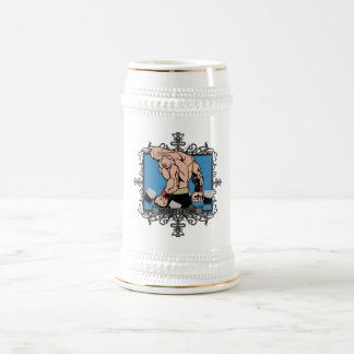 Aggressive Weight Lifting Beer Stein