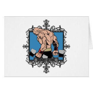 Aggressive Weight Lifting Card