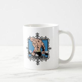 Aggressive Weight Lifting Classic White Coffee Mug
