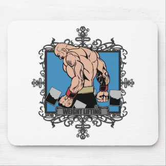 Aggressive Weight Lifting Mouse Pad
