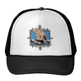 Aggressive Weight Lifting Trucker Hat