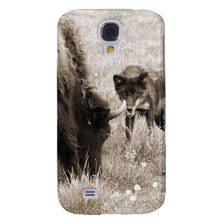 Aggressive wolf hunting bison samsung s4 case
