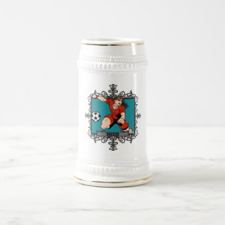 Aggressive Women's Soccer Beer Stein