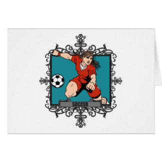 Aggressive Women's Soccer Card