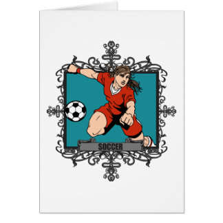 Aggressive Women's Soccer Cards