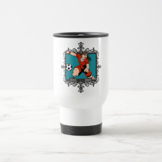 Aggressive Women's Soccer Travel Mug