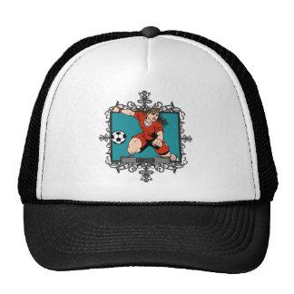 Aggressive Women's Soccer Trucker Hat