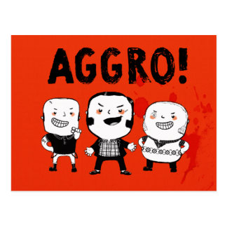 AGGRO Boys don't fear! Postcard