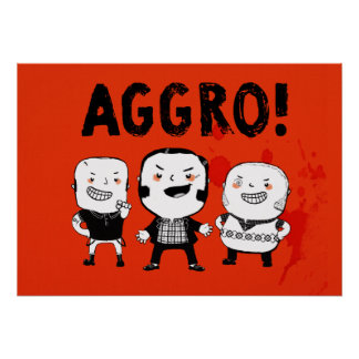 AGGRO Boys don't fear! Poster