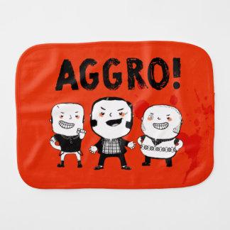 AGGRO Boys don't fear! Baby Burp Cloth