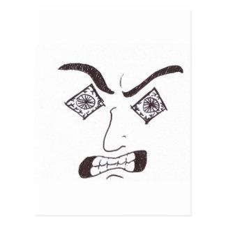 Aggro Face Postcard