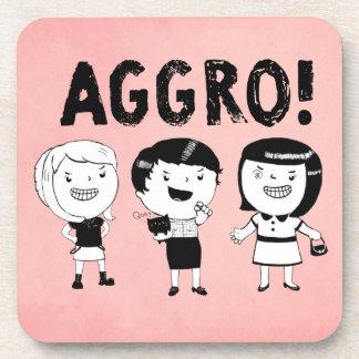 AGGRO Girls Beverage Coasters