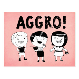 AGGRO Girls Postcard