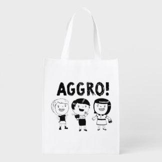 AGGRO Girls Reusable Grocery Bags
