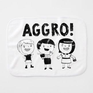 AGGRO Girls Burp Cloths