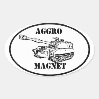 Aggro Magnet sticker