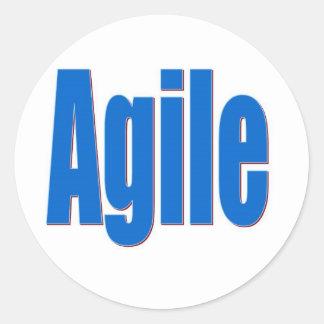 Agile Classic Round Sticker