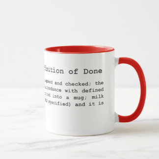 Agile Coffee - Definition of Done Mug