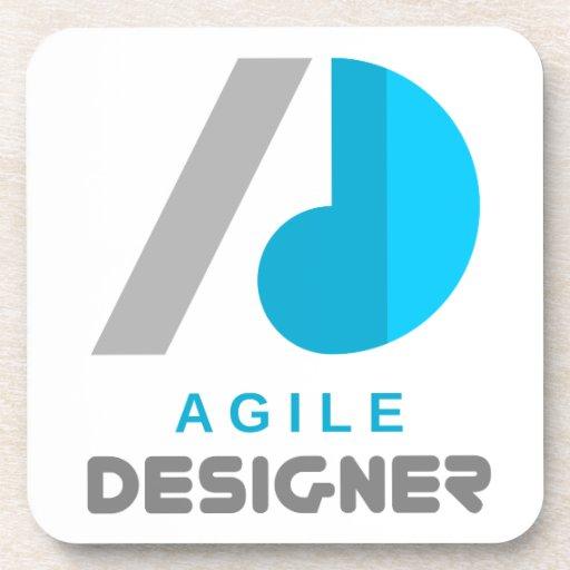 Agile Designer Drink Coaster Zazzle