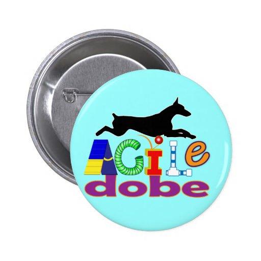 Agile Dobe 2 Inch Round Button