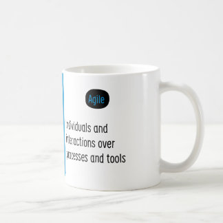 Agile Manifesto cup I. Classic White Coffee Mug