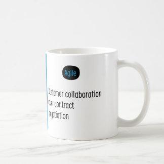 Agile Manifesto cup III. Classic White Coffee Mug