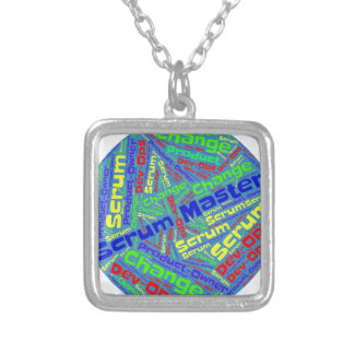 AGILE SCRUM DESIGNS SILVER PLATED NECKLACE