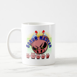 Agile Scrum Master Mug with Chickens & Pigs