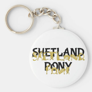 Agile Shetland Pony Basic Round Button Keychain