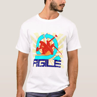 Agile with workers and sun beams T-Shirt