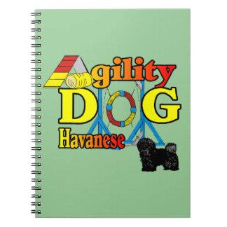 Agilidad de Havanese Spiral Notebook