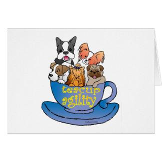 agilidad de la taza de té tarjeta de felicitación