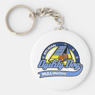 Agilidad de Malinois del belga del béisbol Llavero Redondo Tipo Pin