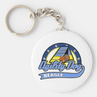 Agilidad del beagle del béisbol llaveros personalizados