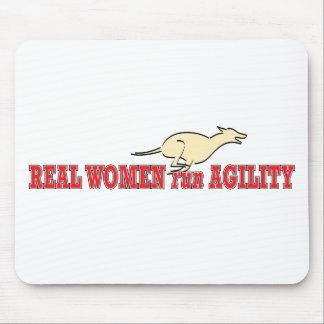 Agilidad del funcionamiento de las mujeres reales tapete de ratón