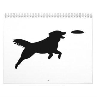 Agilidad del perro calendarios de pared