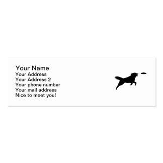 Agilidad del perro tarjetas de visita
