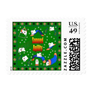 Agilidad del samoyedo sellos