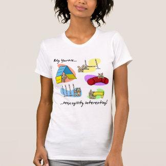 Agilidad interesante de Yorkie Camisetas