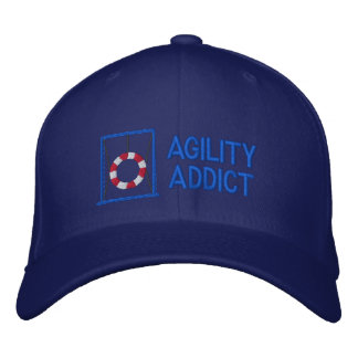 Agility Addict Embroidered Hat (Blue)