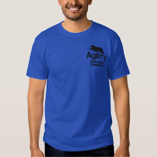 Agility Australian Shepherd Embroidered T-Shirt